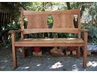 Bench in oak 1