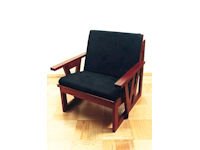 Armchair in red cedar