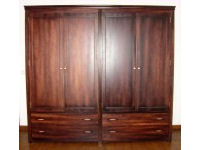 Wardrobe in acajou with chestnut lining 1