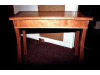 Table in cherry, cedar of lebanon and ebony 1
